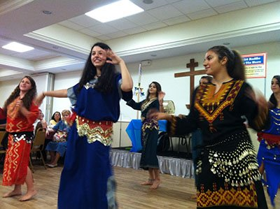 Traditional Middle Eastern dress and coin skirts lend authenticity and pizzaz to the cultural display of dance!
